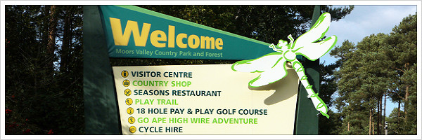 Moors Valley Welcome Sign